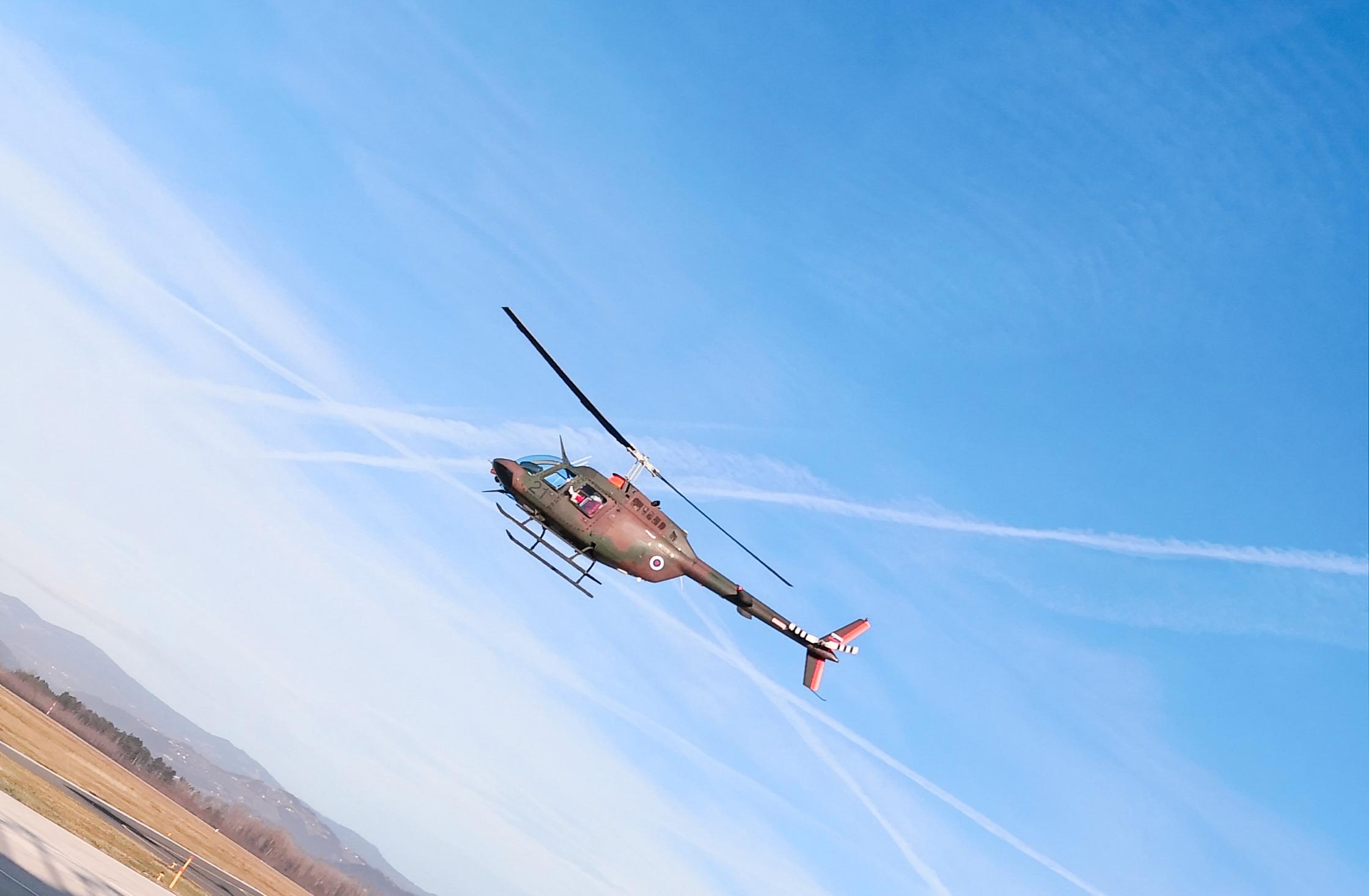 božiček s helikopterjem